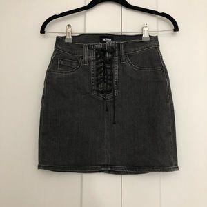 Hudson Lace Front Denim Skirt